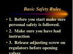 basic safety rules