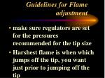 guidelines for flame adjustment1