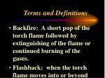 terms and definitions2