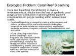 ecological problem coral reef bleaching