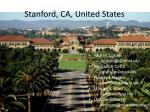 stanford ca united states