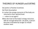theories of hunger and eating