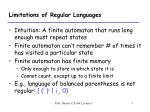 limitations of regular languages