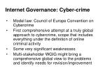 internet governance cyber crime