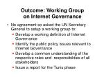 outcome working group on internet governance
