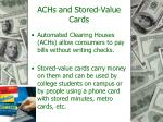 achs and stored value cards