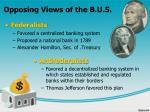 opposing views of the b u s
