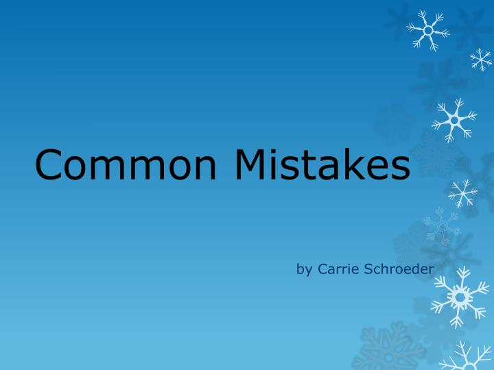 common mistakes n.