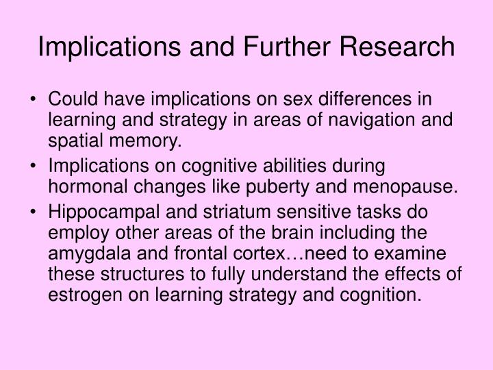 Implications and Further Research
