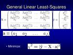 general linear least squares