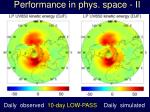 p erformance in phys s pace ii