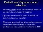 partial least squares model selection