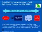 caja madrid s implementation of xml bulk credit transfer for eba step2