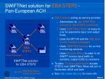 swiftnet solution for eba step2 pan european ach