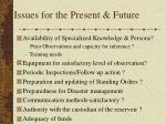issues for the present future