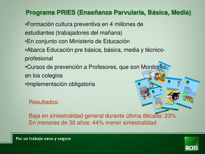 Programa PRIES (Enseñanza