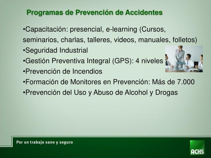 Programas de Prevención de Accidentes