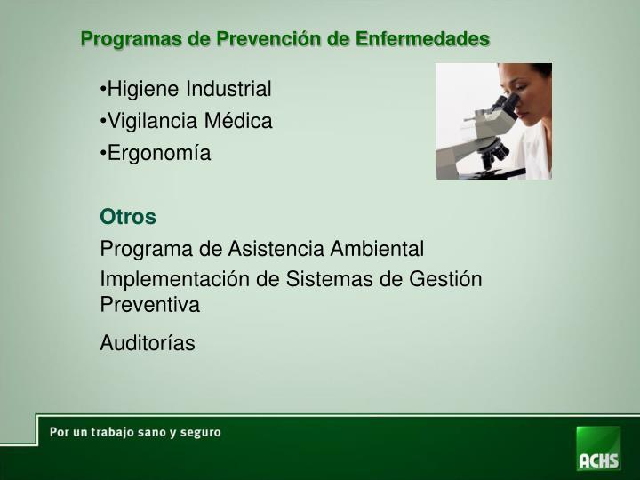 Programas de Prevención de Enfermedades