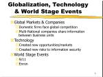 globalization technology world stage events