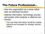 the future professional