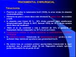 tratamentul chirurgical timectomia