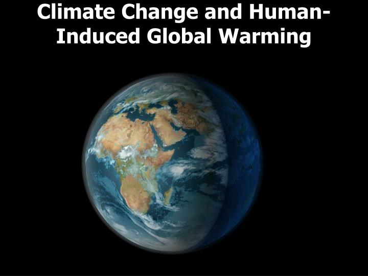 climate change and human induced global warming n.