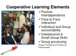 cooperative learning elements