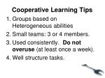 cooperative learning tips