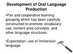 development of oral language production3