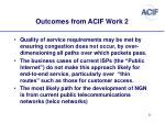 outcomes from acif work 2