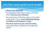 iii the classic grief work model
