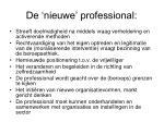 de nieuwe professional