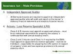 insurance act main provisions1