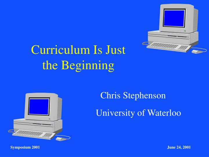 curriculum is just the beginning n.