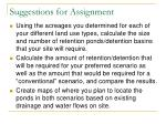 suggestions for assignment