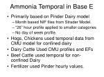ammonia temporal in base e