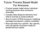 future process based model for ammonia1