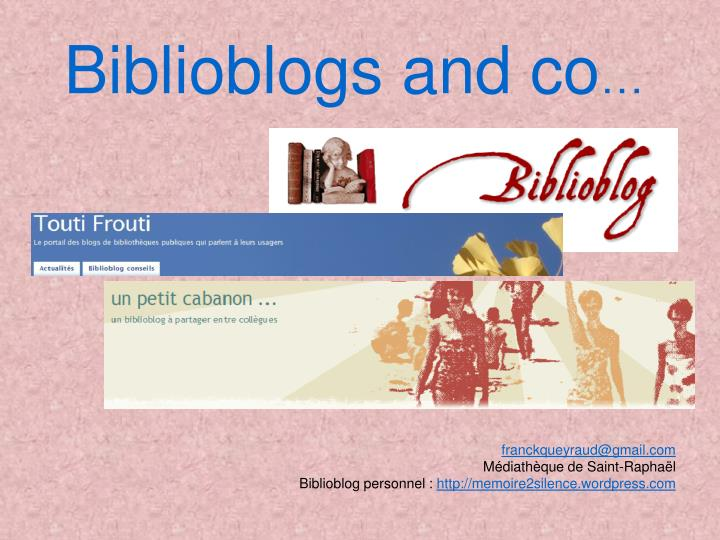biblioblogs and co n.