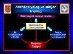 anesteziyolog ve major travma