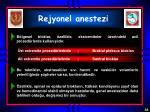rejyonel anestezi