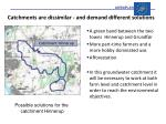catchments are dissimilar and demand different solutions1