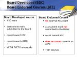 board developed bdc board endorsed courses bec