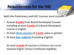 requirements for the hsc1
