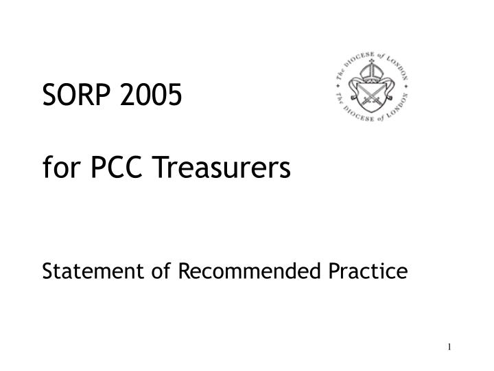 sorp 2005 for pcc treasurers statement of recommended practice n.