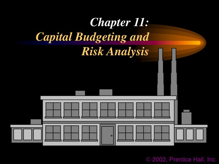 chapter 11 capital budgeting and risk analysis n.