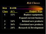 risk classes