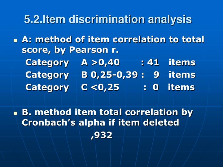 5.2.Item discrimination analysis