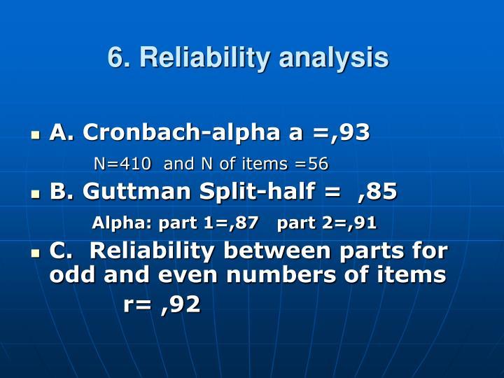 6. Reliability analysis