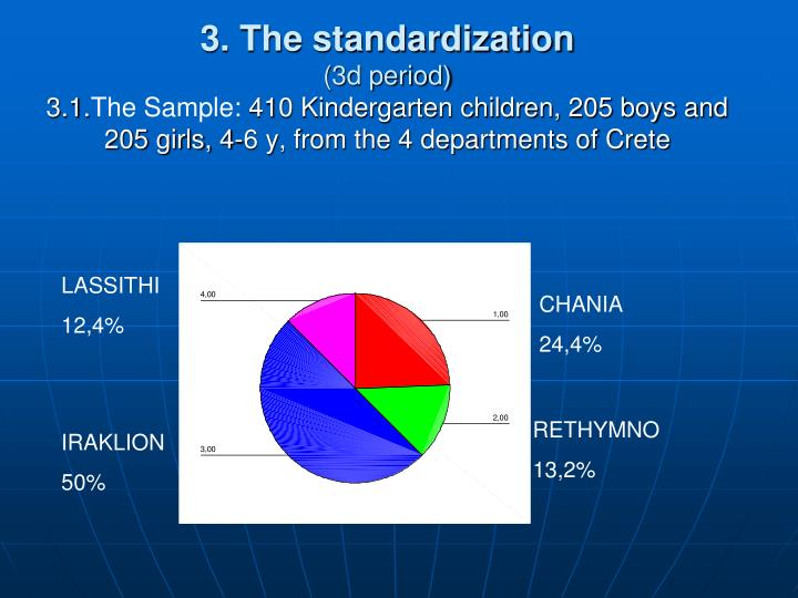 3. The standardization