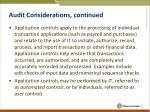 audit considerations continued1